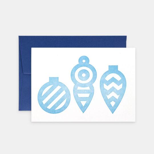 Tiskovna, letterpress, vánoční přání – ozdoby, azure