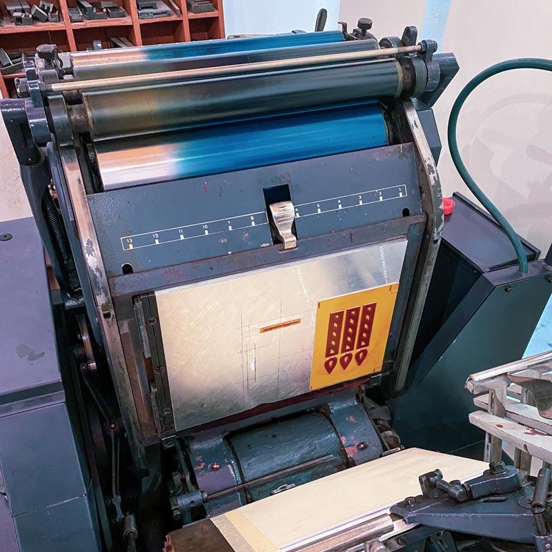 Tiskovna, letterpress, raznice