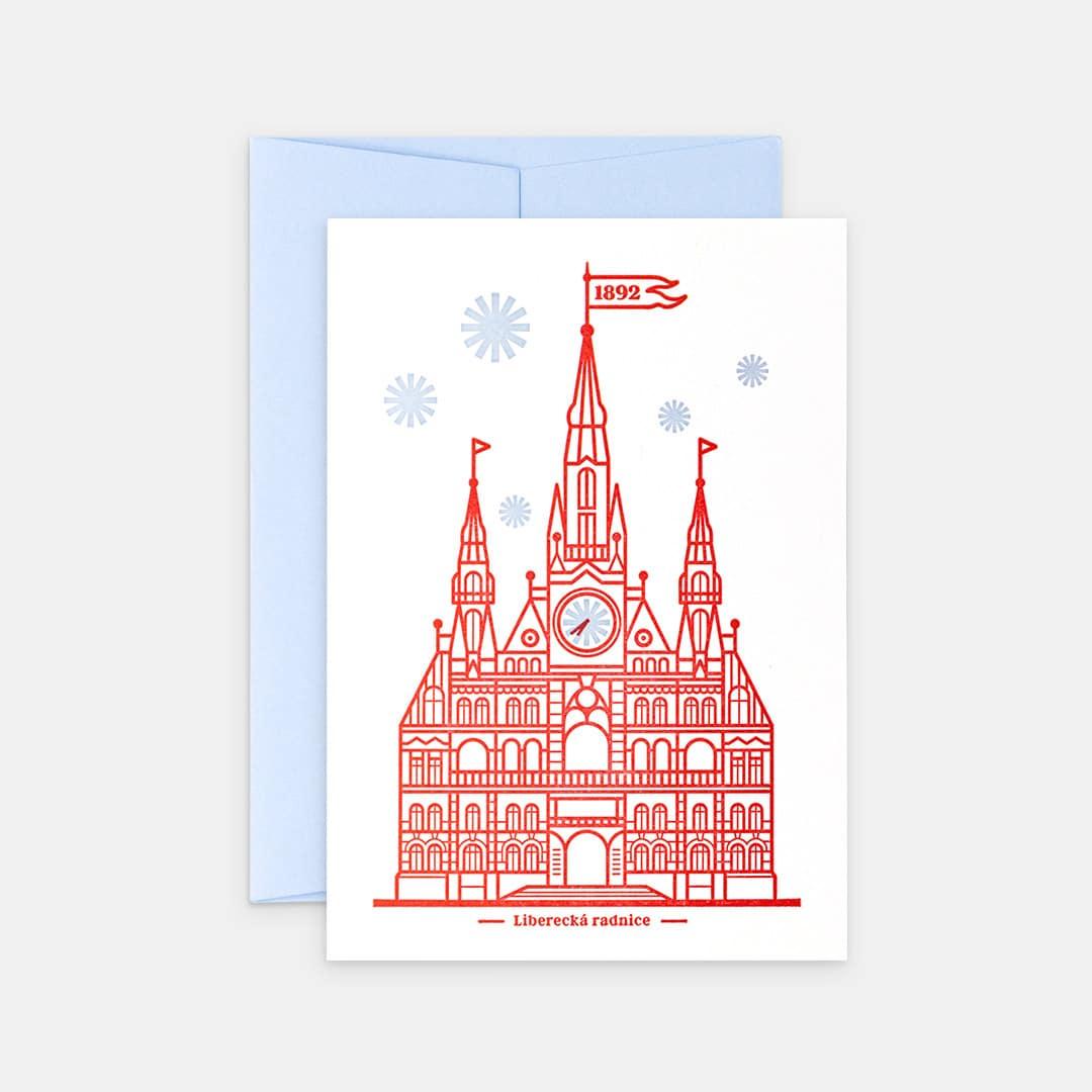 Tiskovna, letterpress, Liberecká radnice, přání – červená